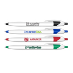 Silhouette - Retractable Ball Point Pen (Blue Writing Ink)