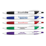 Silhouette Grip - Retractable Ball Point Pen With Rubber Grip