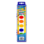 Set of 8 Washable Watercolor Paints with Brush