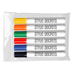 Bullet Tip Dry Erase Markers - USA Made - 6 ct