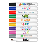 Chisel Tip Dry Erase Marker - USA Made - Full Color Decal