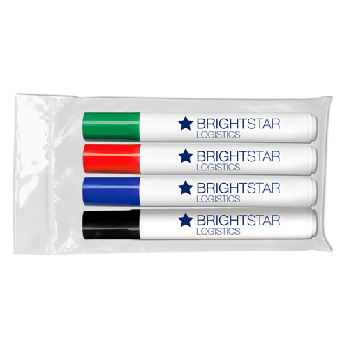 Chisel Tip Dry Erase Markers - USA Made - 4 ct