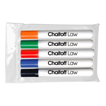Chisel Tip Dry Erase Markers - USA Made - 5 ct