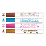*Stamper-Poos™ - Poop Emoji Washable Ink Stamping Markers - USA Made