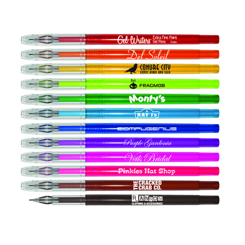 Gel WritersTM 0.5mm Extra Fine Point Gel Pens
