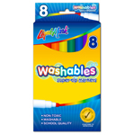 Set of 8 Washable Super Tip Markers - Assorted Colors