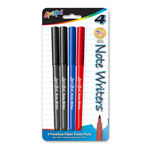 Set of 4 Note Writers® - Fiber Point Pens - USA Made