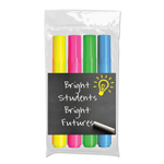 Brite Spots® Highlighters with Custom Insert Card - USA Made - 4 ct