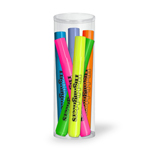 Broadline Fluorescent Highlighters- 6 Pack Tube Set
