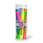 Broadline Fluorescent Highlighters- 6 Pack Tube Set - Full Color Decal