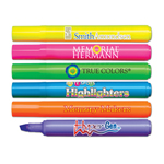 Brite Spots® Broad Tip Highlighters - Solid Barrel - USA Made - Full Color Decal