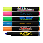 Brite Spots® Broad Tip Highlighters - Black Barrel - USA Made - Full Color Decal