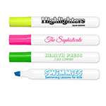 Brite Spots® Broad Tip Highlighters - White Barrel - USA Made