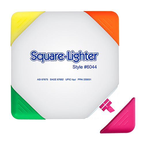 Square-Lighter - 4 Color Square Shaped Highlighter