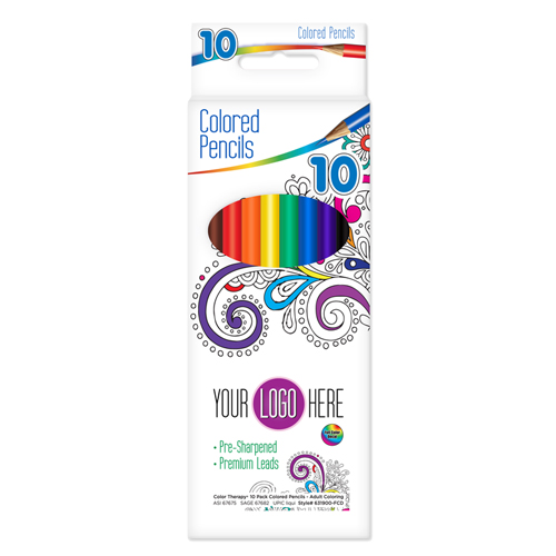 10 ct Color Therapy®  Pre-Sharpened Colored Pencils