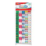 Set of 10 Holiday Theme # 2 HB Fashion Pencils with Eraser