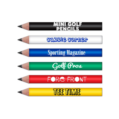 "Mini Round Golf Pencils 3.5"" Pre-Sharpened"