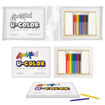 U-COLOR Canvas Art + 8pk Marker Set