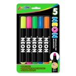 Set of 5 Neon Broadline Watercolor Markers - USA Made