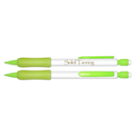 *CLOSE OUT SPECIAL* Mechanical Pencil - White Barrel with Fluorescent Yellow Trim - Refillable