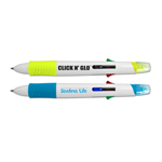 Click n' Glo - 5 in 1 Highlighter & 4 Color Pen Combo