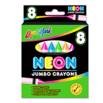 Set of 8 Jumbo Crayons - Neon