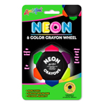 Single Pack Crayo Craze® Neon Six Color Crayon Wheel