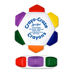 Crayo-Craze® 6 Color Crayon Wheel - White