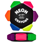 Crayo-Craze® Neon 6 Color Crayon Wheel - Black