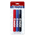 Permanent Markers with Custom Blister Card - USA Made - 3 ct