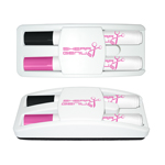 Dry Erase Gear Dry Erase Marker and Eraser Set in Black/Pink